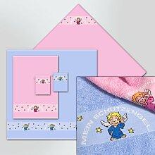 Kinderfrottierwaschhandschuh Schutzengel Farbe: Bonbon