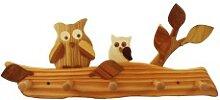 Kindergarderobe aus Holz | Eule