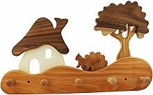 Kindergarderobe Haus am Wald, Kindermöbel, Kindergarderobe aus Holz