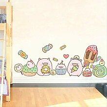 Kindergarten-Layout Cartoon niedliche Aufkleber