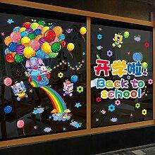 Kindergarten Ring Kreation Fenster Glas Aufkleber