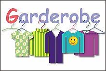 Kindergarten Schild -831s- Garderobe 29,5cm * 20cm * 2mm, mit 4 Eckenbohrungen (3mm) inkl. 4 Schrauben
