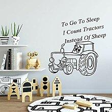 Kindergarten Wandtattoos Traktor schlafen gehen