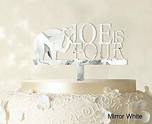 """Kindergeburtstags Kuchendeckel Personalized Spiegel Cake Topper Color Option verfügbar 5 """"""""-7"""""""" Zoll brei"""