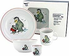 Kindergeschirr 5-teilig Pinguin, Porzellan