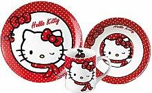 Kindergeschirr Kinder-Keramik-Set Hello Kitty, 3-tlg.