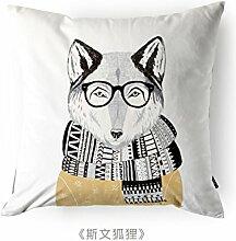 Kinderkissen/Kreative Hause Kissen Kissen/Sofa Kissenbezug-C 46x46cm(18x18inch)VersionB