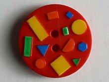 Kinderknopf, 15mm, rot, zweiloch