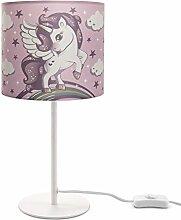 Kinderlampe LED Tischlampe Kinderzimmer, Einhorn