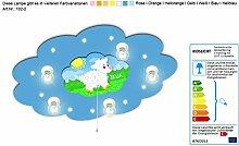 Kinderlampe mit Motiv Schaf mit Schlummerlicht / Farbe: Blau (auch in anderen Farben erhältlich) Kinderlampe Kinderzimmerlampe Babyleuchte mit Nachtlich