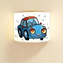 Kinderlampe Wandlampe blaues Auto Lampe Autolampe