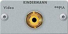 Kindermann 7444000403 Video (Cinch) Blende, 50 x 50 mm, Lötanschluss schwarz