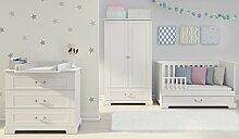 Kindermöbel Babyzimmer INES Weiss Matt MDF