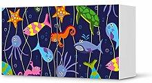 Kindermöbel Design für IKEA Besta Regal Quer 2 Türen | Möbel-Tattoo Klebefolie | Deko Ideen IKEA Möbel für Kinder-Zimmer Raumgestaltung | Kids Kinder Underwater Life