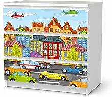 Kindermöbel gestalten für IKEA Malm 3 Schubladen | Möbelfolie selbstklebend Dekorfolie | Einrichtungsideen IKEA Möbel für Kinder-Zimmer Dekomaterial | Kids Kinder City Life