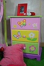 Kindermöbel Kinderschrank Kinderzimmer Kinder Kommode Rosa Fee-Fairies 62 x 47 x 32 cm