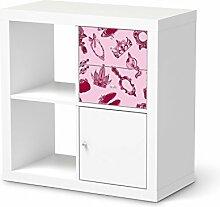 Kindermöbel umgestalten für IKEA Kallax Regal Schubladen | Möbeltattoo Deko | Dekorationsideen IKEA Möbelfolie Kinder-Zimmer Home Deko | Kids Kinder Pink Princess
