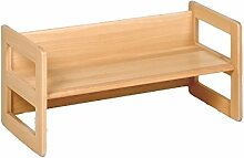 Kindermöbel, Wendebank Holz, die Bank mit