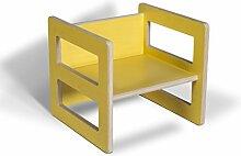 Kindermöbel Wendehocker Holz farbig, praktischer