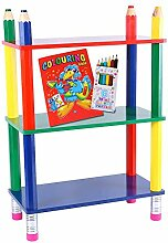 Kinderregal Bleistift | Regal MDF Massivholz |
