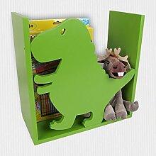 Kinderregal Dino Spielzeugregal Wandregal Regal Kinderzimmer Aufbewahrung Bücher