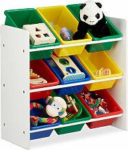 Kinderregal mit Regalboxen, Aufbewahrungsregal,