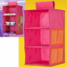 Kinderregal - Stoffregal - Hängeregal 3er Pink