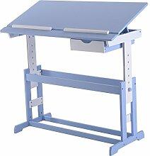 Kinderschreibtisch Kindermöbel Kinderzimmer Kindertisch Schreibtisch Schnülerschreibtisch Computertisch Bürotisch neigungsverstellbar höhenverstellbar Farbewahl (Blau)