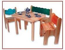 Kindersitzgruppe 4-teilig Holz Dahlhaus Kiefer