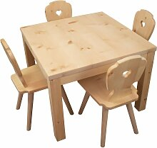 Kindersitzgruppe in Zirbenholz