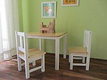 Kindersitzgruppe Kindermöbel Sitzgruppe Kindertisch NATUR weiss MASSIVHOLZ NEU