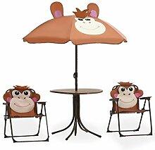 Kindersitzgruppe mit Sonnenschirm Outdoor Garten