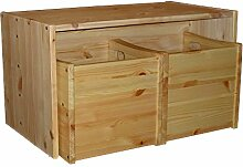 Kindersitzgruppe Tisch + 2 Wendehocker für Kleinkinder, Massivholz aus nachhaltiger Waldwirtschaft FSC® zertifiziert,direkt vom deutschen Hersteller