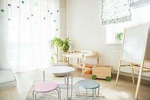 Kindersitzgruppe Tisch Hocher Kindertisch Kindermöbel Kinderstuhle Weiß Rosa