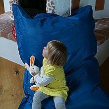 Kindersitzsack QSack Outdoorer, mit Innensack und deutscher Qualitätsfüllung, 100x140 cm (blau)