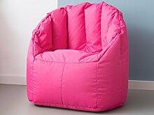"""Kindersitzsack Sitzkissen Relaxsessel Sessel Sitzsack Relaxkissen """"Shell Mini I"""" Pink"""