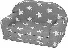 Kindersofa mit Sternen Grau 14500122-grau