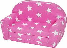 Kindersofa mit Sternen Pink 14500122-pink
