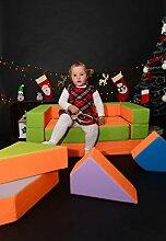 Kindersofa Schaumstoff Spielsofa mit Bettfunktion