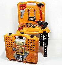 Kinderspiel-Werkzeugset im Koffer, 53-teilig, farbig
