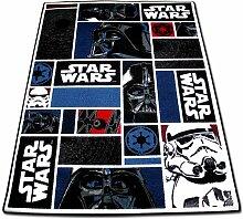 Kinderspielteppich - Kinder Teppich 133x95cm - Spielteppich - Star Wars Teppich mit Motivauswahl (Icon)