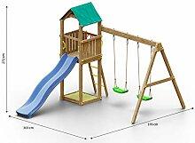 Kinderspielturm/Spielanlage inkl. Doppelschaukel,