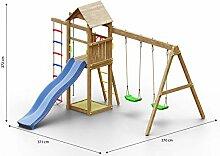 Kinderspielturm/Spielanlage inkl. Kletterseil,