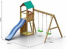 Kinderspielturm/Spielanlage inkl. Kletterwand,