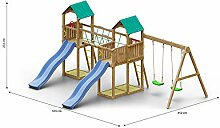 Kinderspielturm/Spielanlage inkl. Seilbrücke,