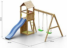Kinderspielturm/Spielanlage inkl. Wellenrutsche,