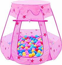 Kinderspielzeug Kinder Faltzelte tragbare Baby Spielplatz Baby Ball Pool ( Farbe : Pink )