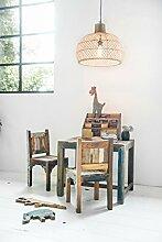 Kinderstuhl Kindermöbel Vintage Altholz im Shabby-Chic aus massiv Holz - bun