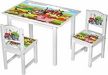 Kinderstuhl Kindertisch Kindermöbel massiv Holz