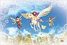Kindertapete - Mia and me - Über den Wolken -